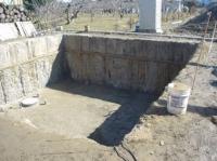 掘削状況(土間部分は、表層地盤改良)
