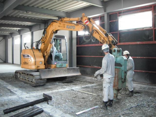 独自開発鋼管杭(MFP)工事